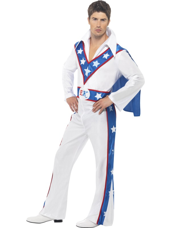 Evel Knievel Licensed Fancy Dress