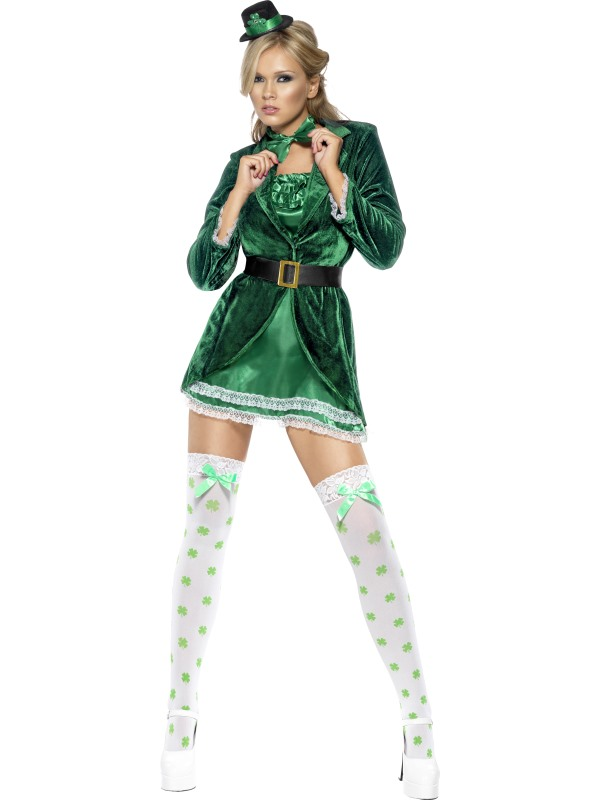 7ed9900d0a630 Patrick Fishnet Costume & Leprechaun Costume Sc 1 St Smiffys.com