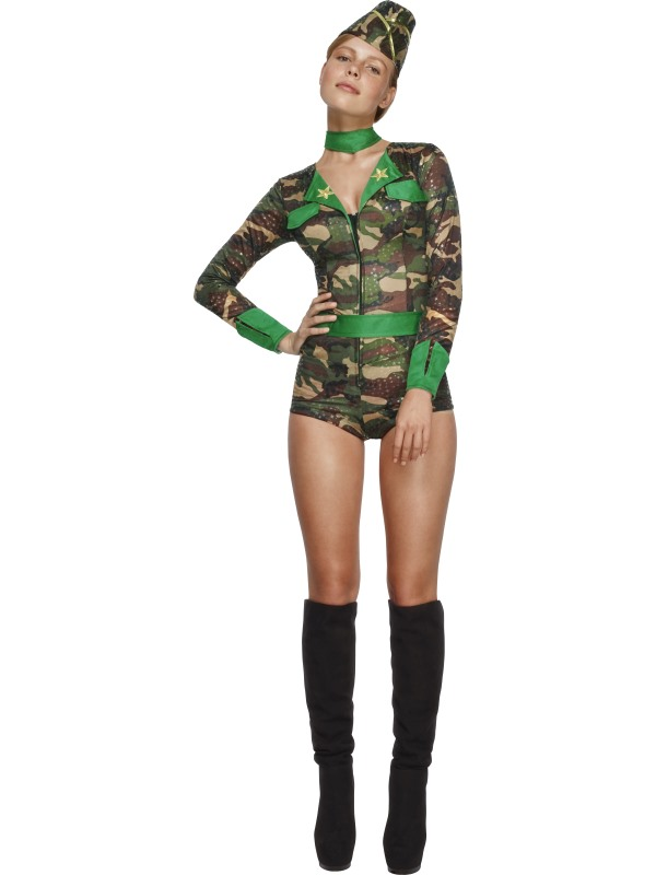 Fever Combat Chick Costume