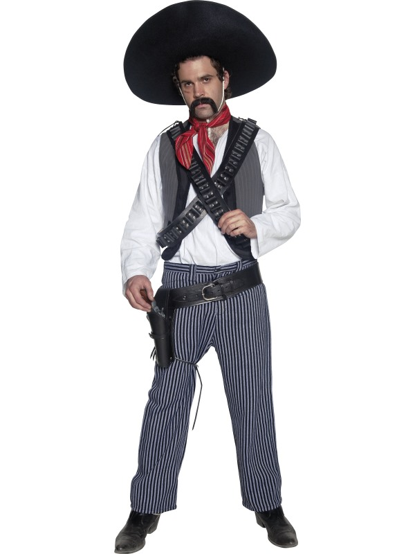 Deluxe Authentic Western Mexican Bandit Costume