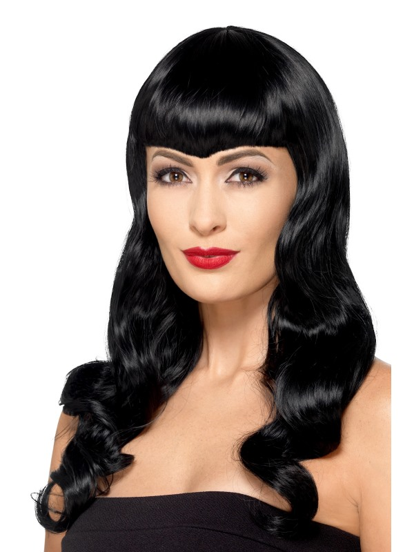 Deluxe Wavy Wig, With Shaped Fringe