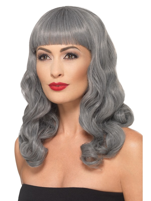 Deluxe Wig Wavy With Fringe